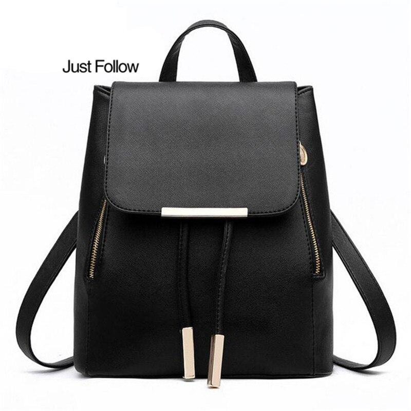 2018 New PU Leather School Bags For Teenagers Girls Top-handle Backpacks Women Backpack Mochila Escolar