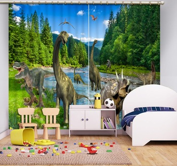 Luxury Blackout 3D Window Curtains For Living Room Bedroom Customized size animal curtains