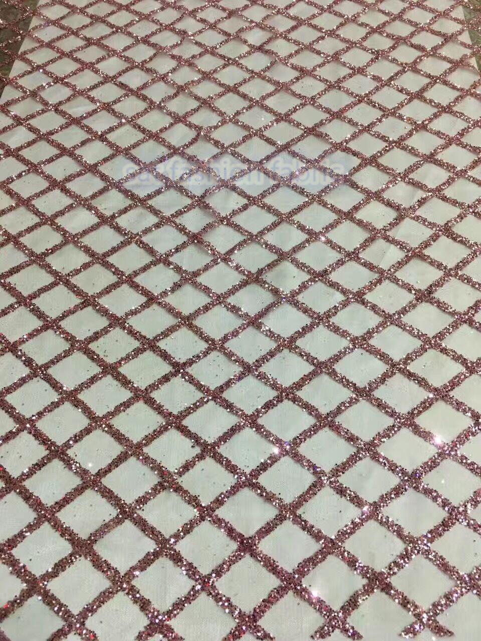 Design de mode sat 41547 paillettes paillettes dentelle africaine tissu en gros paillettes dentelle de haute qualité-in Dentelle from Maison & Animalerie    1