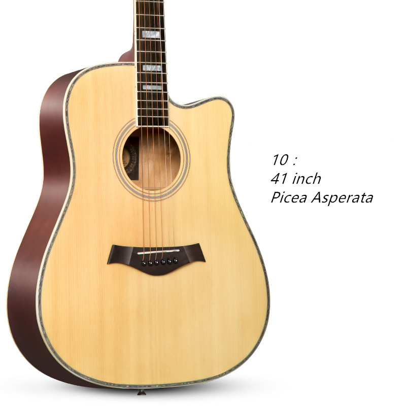 Acoustic Guitar 41 Inch Missing Ballad Novice Beginner Student Entry Folk Linden Rosewood Picea Asperata 38 inch folk guitar to send full color gifts string linden wood guitar six strings with free shipping
