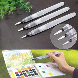 3 шт./лот, мягкая кисть, чернила, акварельная каллиграфия для начинающих, многоразовая живопись, размеры S, M, L, маркер, кисть для рисования