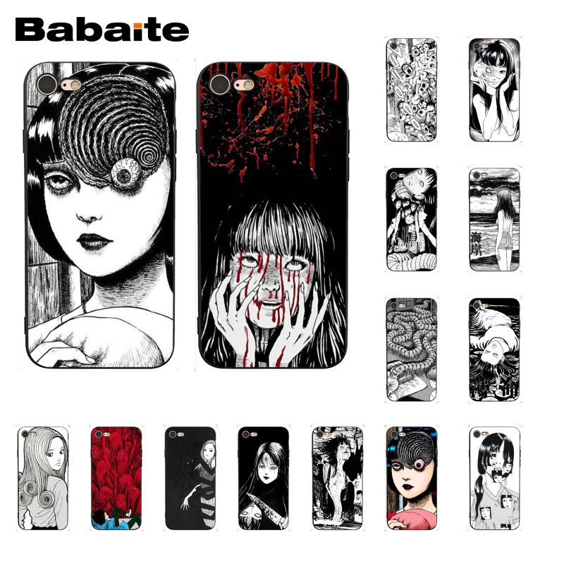Babaite Junji Ito Tees <font><b>Horror</b></font> Phone Case for iphone 11 Pro 11Pro Max 8 7 6 6S Plus X XS MAX 5 5S SE XR image