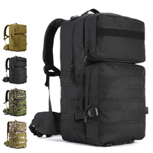 High capacity Outdoor Backpack 55L Nylon Camo Tactical MOLLE Climber Travel Camping Hunting Cycling waterproof