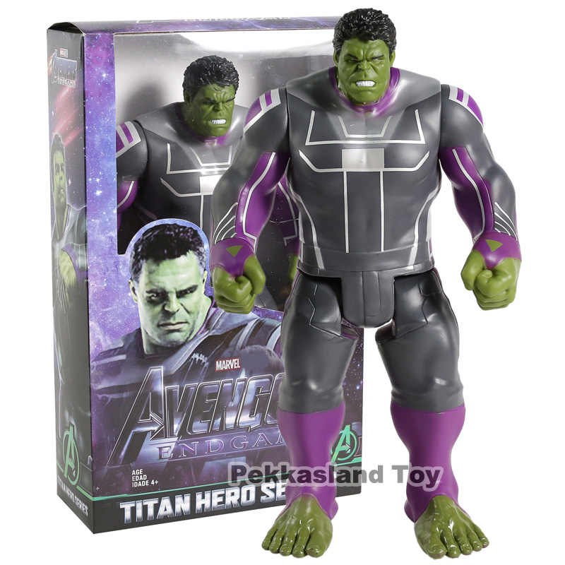 "Marvel Titan Hero Series Avengers 4 Endgame Hulk PVC Action Figure ของเล่นสะสม 12 ""30 ซม."