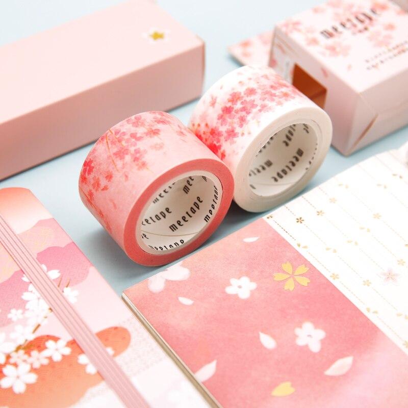 Beautiful Flowers Washi Adhesive Tape Kawaii Cute Diy Decoration Scrapbooking Sticker Masking Tape Paper Label Supplies Ajdn7542