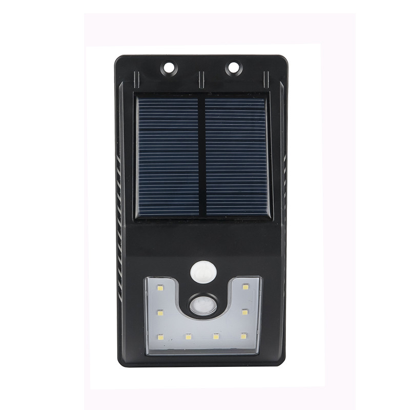 4 шт. 10 светодиодов Солнечный свет открытый с движения Сенсор солнечной лампы 300 люмен Водонепроницаемый для сад Безопасность лампы