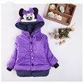 Em 2016 O Novo Novo Mini Casaco de Inverno Do Bebê do Revestimento das Crianças brasão Jacket Mangas Tudo Menina Quente Do Bebê de Gordura Roupas de inverno Menina casaco