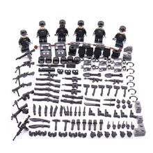 New LegoINGlys Military SWAT City Police Minifigure Modern Commando Special Forces Weapons Building Blocks Mini Figures Toys(China)