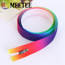 Meetee 5yards 3# 5# Nylon Open-end Waterproof Zippers for DIY Sewing Zipper Sports Coat Clothes Available ZK545