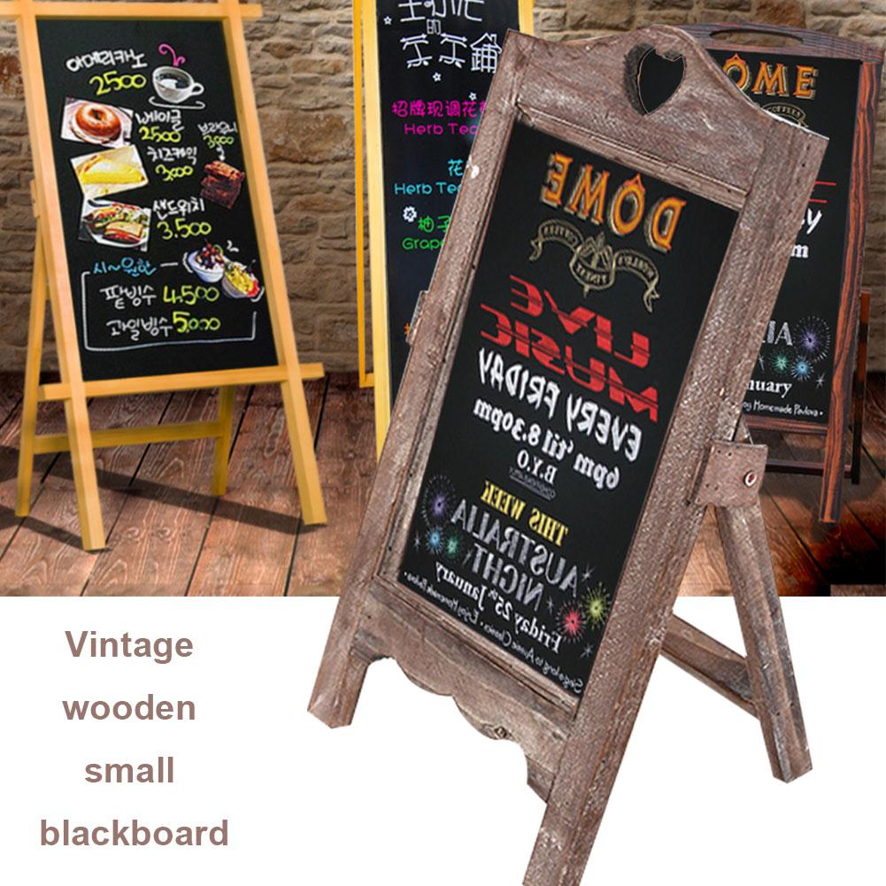 Memo Board Wooden Small Blackboard Message Board Upright Desktop Creative Home Multifunctional Single Side desktop message blackboard pine wood easel chalkboard kids wooden memo black board collapsible writing boards