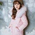 Meninas Venda de Algodão Jaqueta Casaco de Inverno Para A Menina 2016 Nova Princesa Casaco de inverno Casacos Crianças Para Meninas Adolescentes Outerwear 7-15 anos