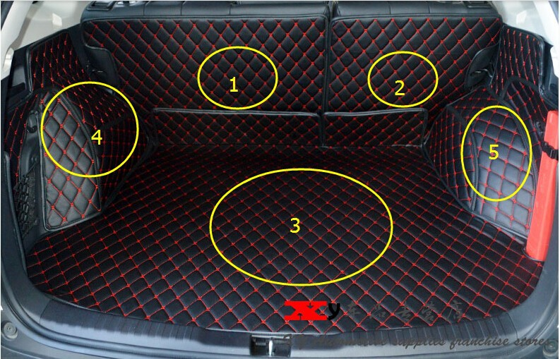 For Honda CRV CR-V 2012 2013 2014 2015 2016 Interior Car Styling Car Rear Cargo Trunk Mats Pads 5pcs / set for mazda cx 5 cx5 2nd gen 2017 2018 interior custom car styling waterproof full set trunk cargo liner mats tray protector