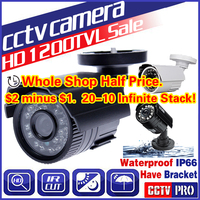 11.11biggest Sale!Cmos 1200TVL Hd Mini Cctv Camera Outdoor Waterproof 24Led Night Vision Small Video monitoring security vidicon