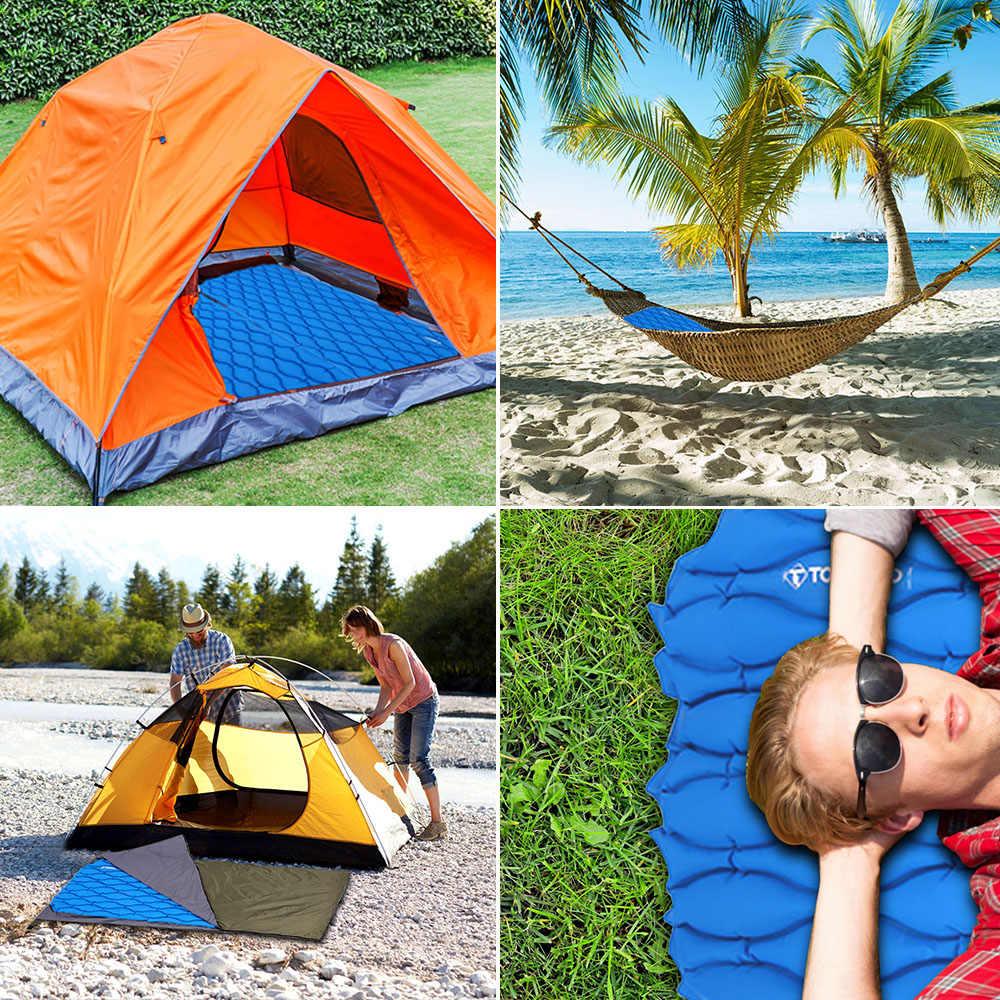 TOMSHOO Автоматический надувной коврик для сна Матрас плохой палатки воздуха Водонепроницаемый Сверхлегкий спальный плоские сумки для кемпинга рыбалки