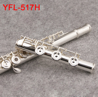 Japan Professional Flute YFL 517H 17 open Closed hole C tone With E key instrumentos music Playing in the beginner stage flauta