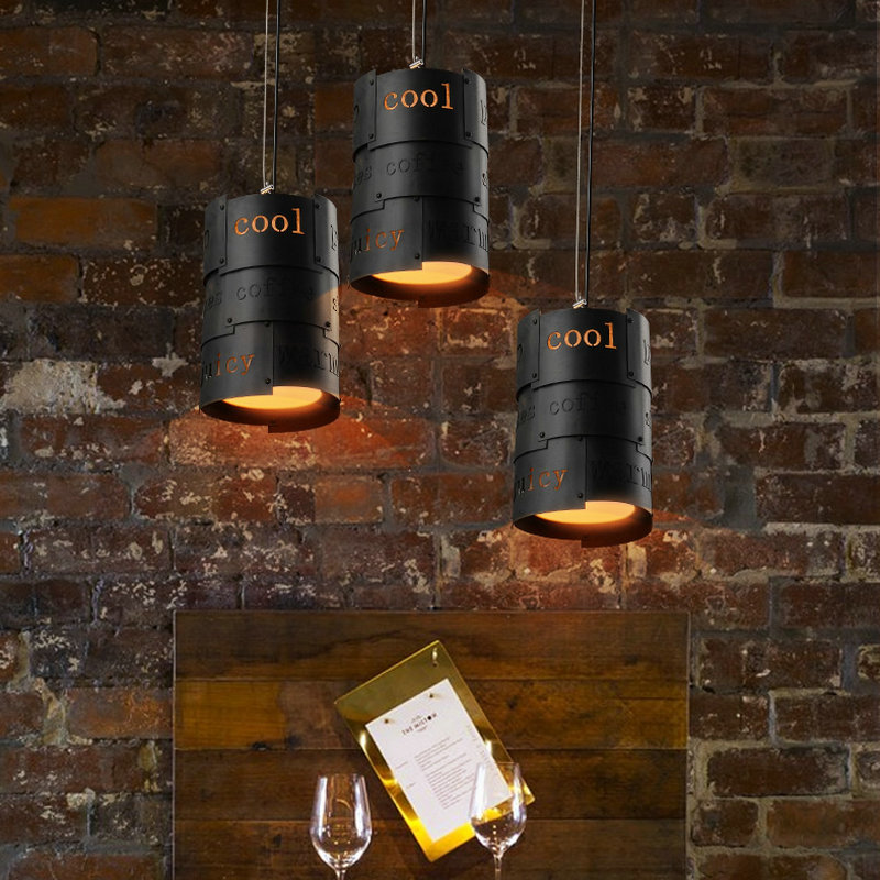 loft vintage wrought iron cafe bar dinning room pendant lamp AC110V 220V lampada  indoor  living room lamp with Edison bulbs nordic wrought iron simple modern pendant lamp with led bulb dinning room light cafe lamp e27 110v 220v free shipping