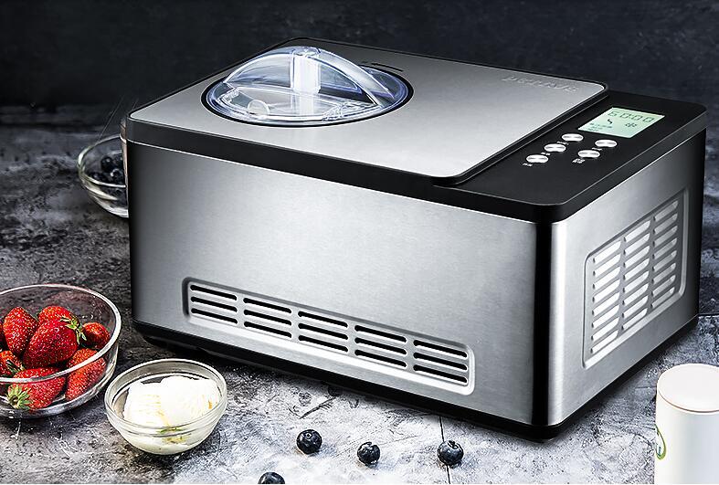 1.5L Soft Ice Cream Maker 150 w Casa De Refrigeração Automático Máquina de Sorvete Crianças Fruit Ice Cream Makers IC2308C 220 v/Hz 50