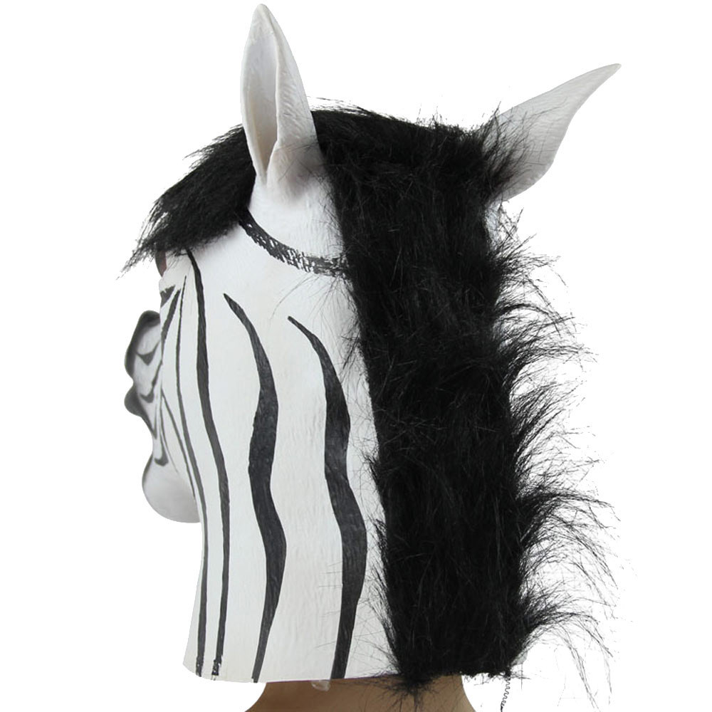Online Shop New Designer Wolf Zebra Mask Latex Animal Costume Prop ...