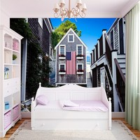 Free Shopping European Villa Design Building Wallpaper Bookstore Bedroom Decorative Backdrop Custom Murals