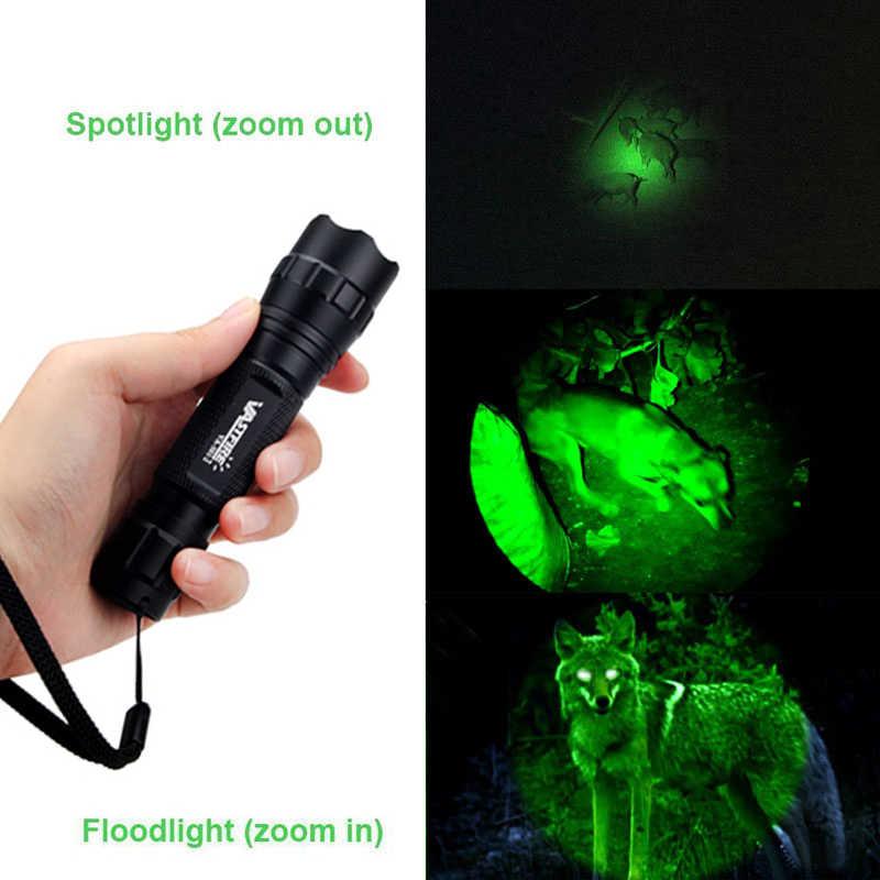 6000LM verde/rojo Q5 LED ajustable linterna táctica caza antorcha arma Rifle luz linterna montaje Airsoft alcance