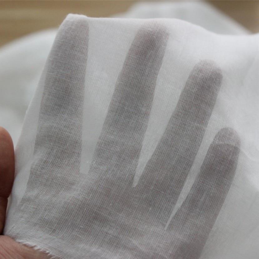 SUJASANMY однотонная белая ткань 60X60/70X70, тонкая хлопковая вуаль, газовая ткань, подкладка для одежды Tissu, карманный текстиль, один метр