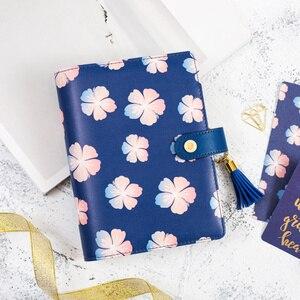 Image 2 - כיסוי עור מחברת ספירלת Lovedoki להיות יפים כמו פרחי הקיץ קוריאני כתיבה מחברת רטרו A5 יומן מתכנן שבועי