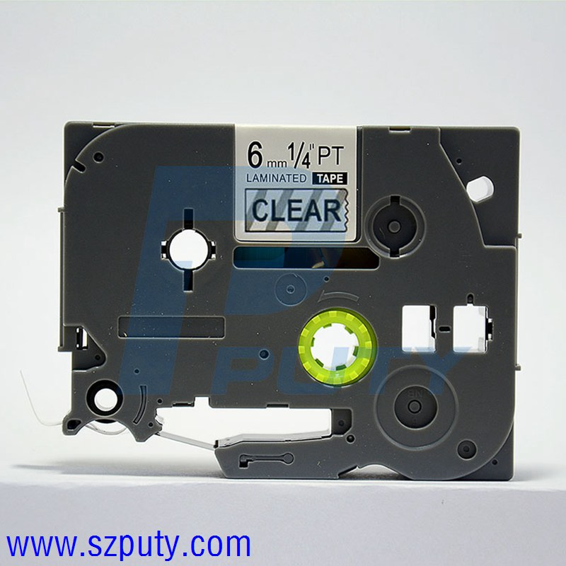"""20PK TZ111 TZe111 Black on Clear Label Tape for Brother P-Touch PT-E300 6mm 1//4/"""""""
