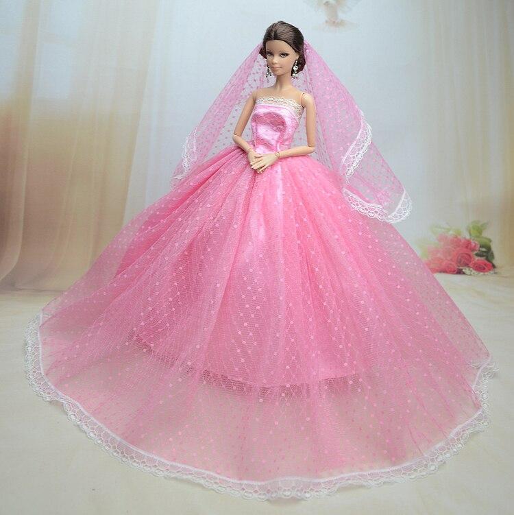 Nuevo para Barbie vestido de la boda gran falda de la princesa ropa ...