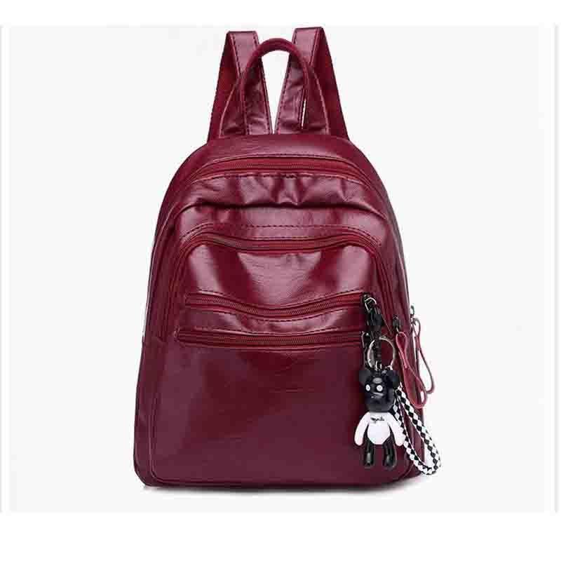 2018 Новый стиль модные женские туфли рюкзак из мягкой искусственной кожи дамы небольшой рюкзак школьные сумки для подростка Grils опрятный сум...
