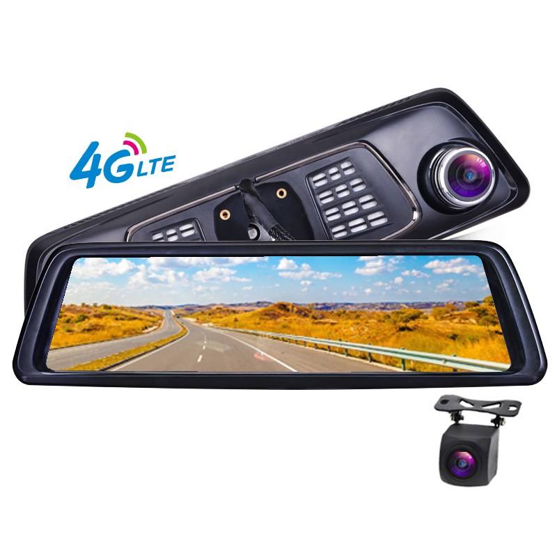 10 Dash Camera Car DVR Full Touch IPS 4G Android Mirror GPS FHD 1080P Car Camera Vehicle Rearview Mirror Camera ADAS BT WIFI