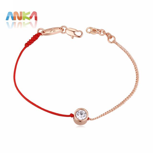 Delikatna bransoletka z kryształem Red