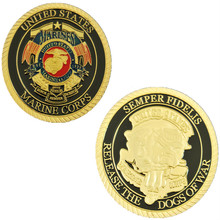 200pcs/lot DHL free shipping USA Marine Corps Semper Fidelis Release The Dogs of War Military token