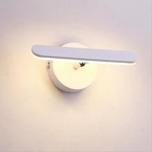 цена на 4W LED Wall Sconce Light Fixture SMD 5730 Acrylic Bedside Lamp Adjustable Bedroom Aisle White shell