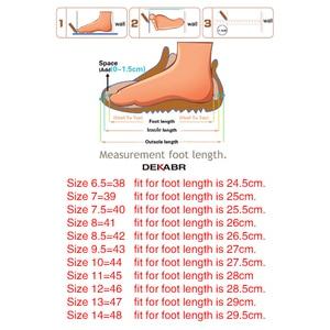 Image 5 - Dekabr Top Kwaliteit Sandaal Mannen Sandalen Zomer Echt Lederen Sandalen Mannen Outdoor Schoenen Mannen Lederen Schoenen Grote Plus Size 46 47 48
