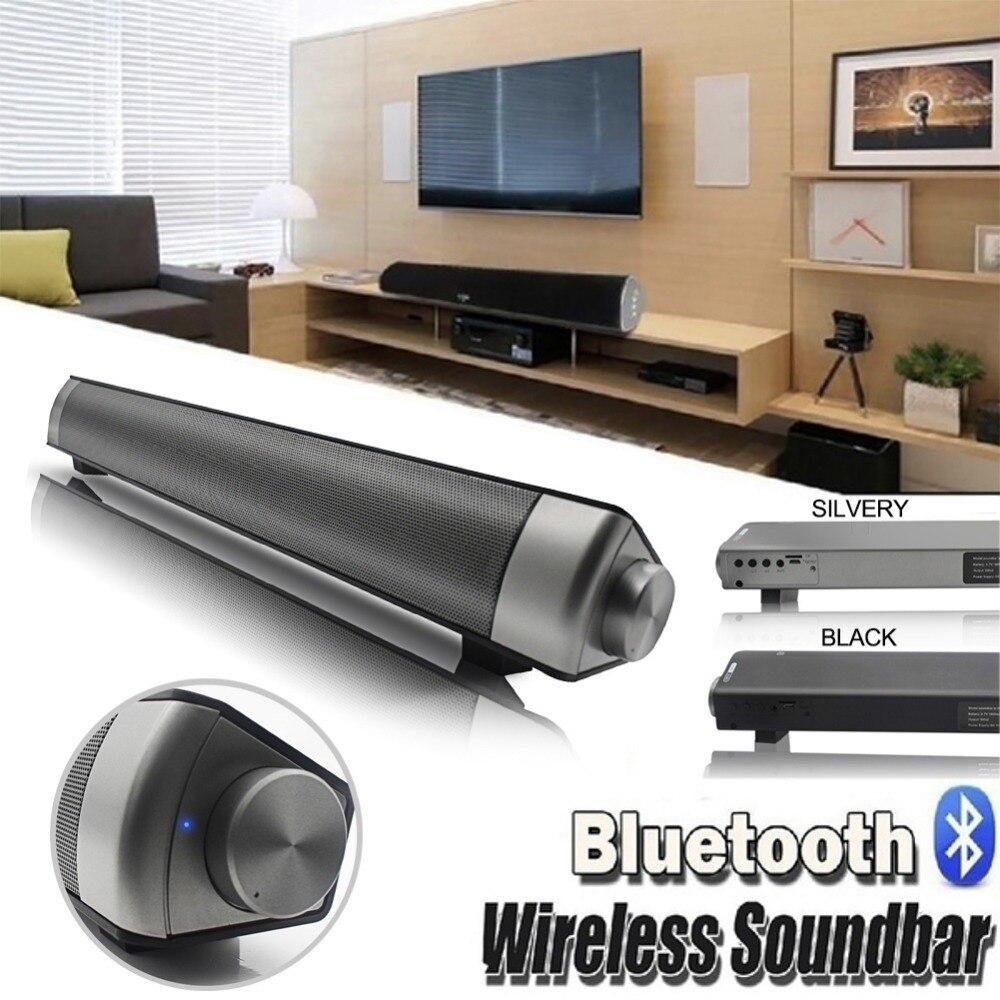 Bluetooth Speaker Soundbar 10W HIFI Subwoof Wireless Speaker Support TF FM Radio AUX For Computer PC Phone Answering call MP3