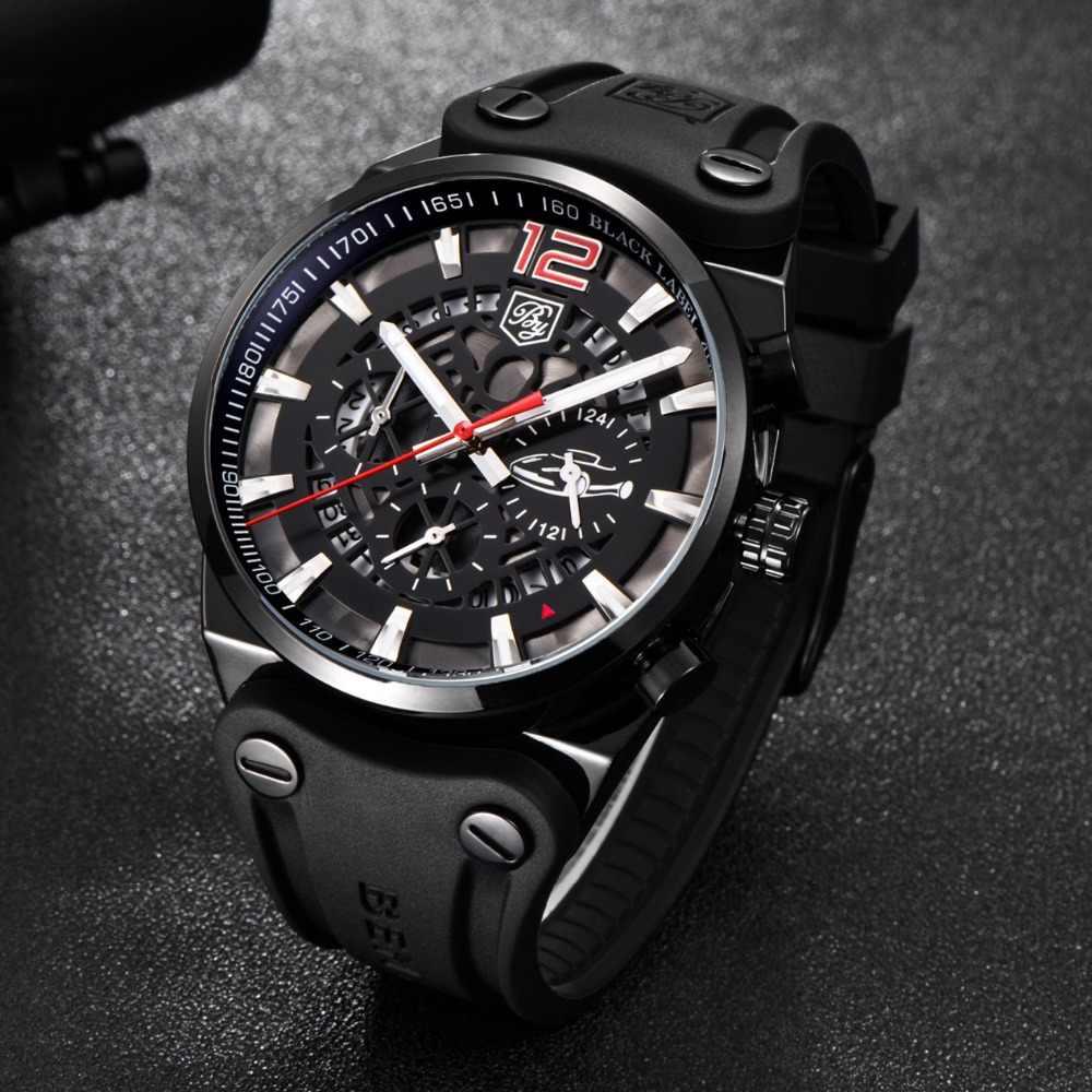 BENYAR スポーツクロノグラフメンズ腕時計ファッション軍事防水シリコーンの高級ブランドクォーツ男性腕時計レロジオ Masculino