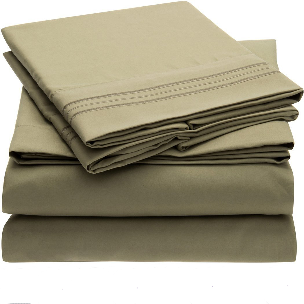 Bedding set fitted sheet flat sheet pillowcase 3 4pcs us How to put a fitted sheet on a bed