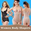 2016 Nuevas Mujeres la Atractiva Monos Adelgazar Shapewear de la Ropa Interior de Alta Elástica Ajustable Transpirable Cintura Faja Corsés