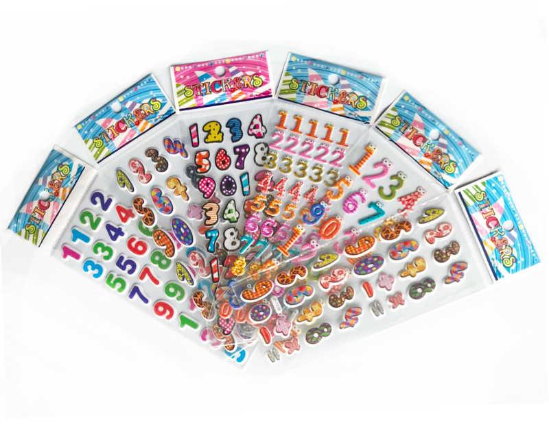 5 листов 3D пышные объемные наклейки смешанные Мультяшные Животные Автомобили принцесса водяные Poof DIY дети мальчик девочка игрушка Горячая Распродажа GYH