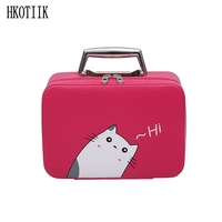 HKOTIIK2018 New Style High Quality Woman Portable Cosmetic Case Beauty Skin Care Bags Travel Portable Cosmetics