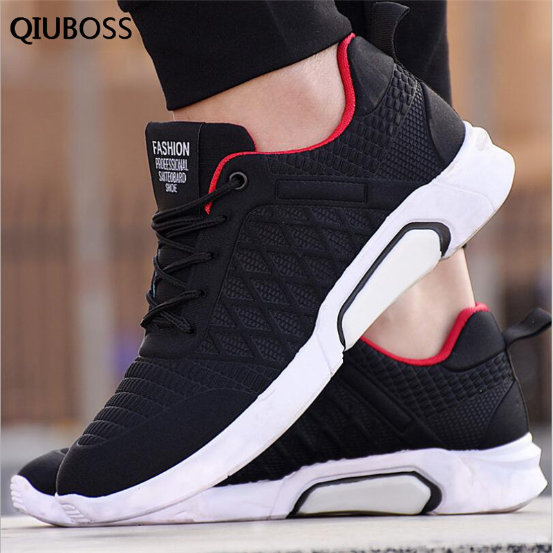 QIUBOSS Men Sneakers Casual Shoes 2018 Spring Autumn New Fashion Harajuku Style Student Adult Sneaker Men Krasovki Brand Shoes