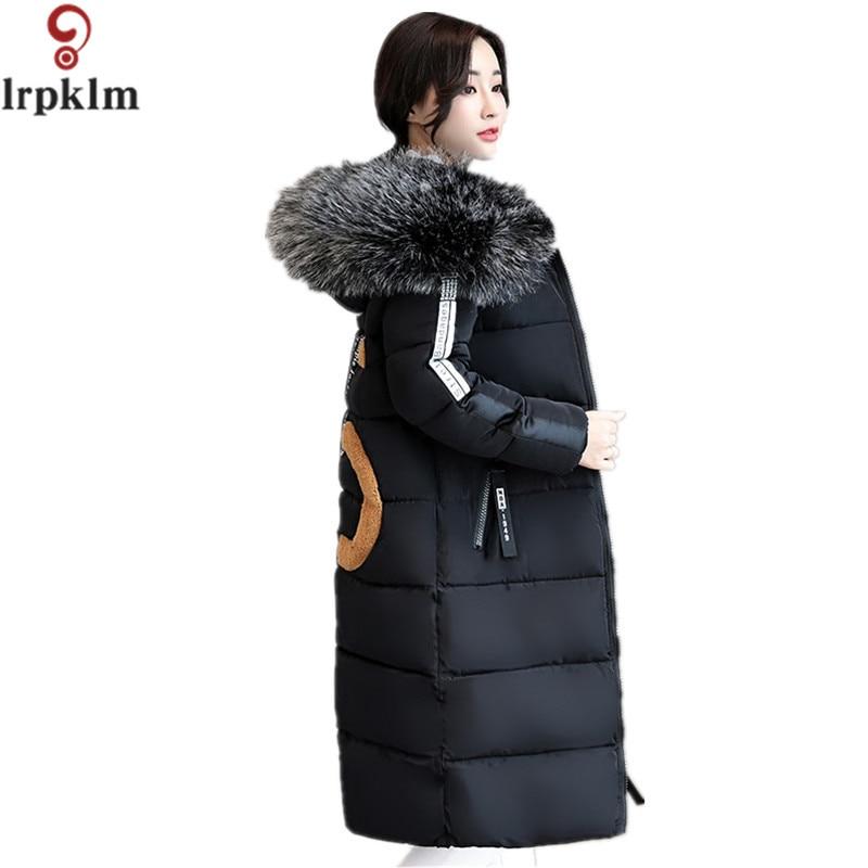 Winter Jacket Women 2017 Large Fur Collar Cotton Padded Winter Coat Women Hooded Female Thicken Warm Jacket Plus Size 6XL LZ281