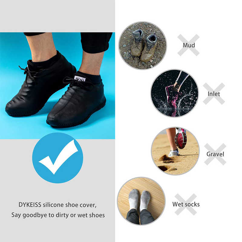 Creative Protector Over Indoor Shoes Waterproof Reusable Shoes Anti-slip Lin