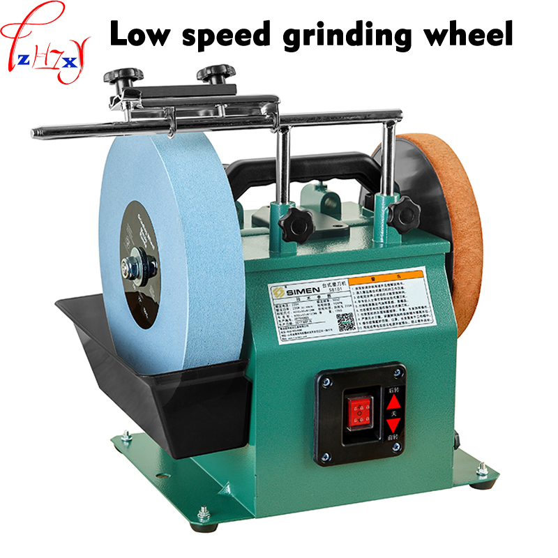 цена на 10 inch low speed grinder positive and reverse white corundum grinding machine water-cooled grinder polishing machine 220V 1pc