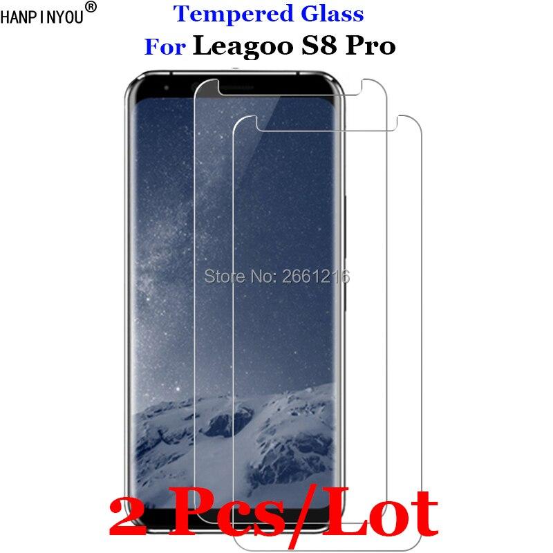 2 Pcs/Lot For Leagoo S8pro Tempered Glass 9H 2.5D Premium Screen Protector Film For Leagoo S8 Pro 5.99
