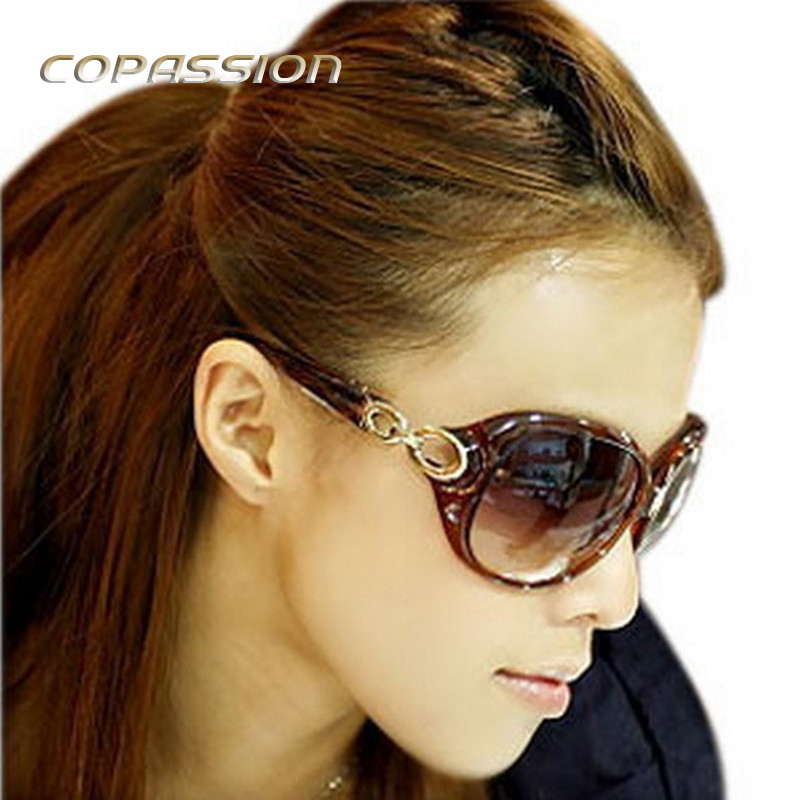 Retro Sunglasses Women Hollow Leg Oval Sun glasses driver Double ring frame Female goggl ...