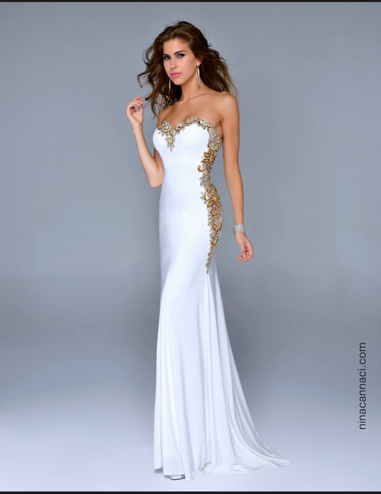5 prom dresses strapless