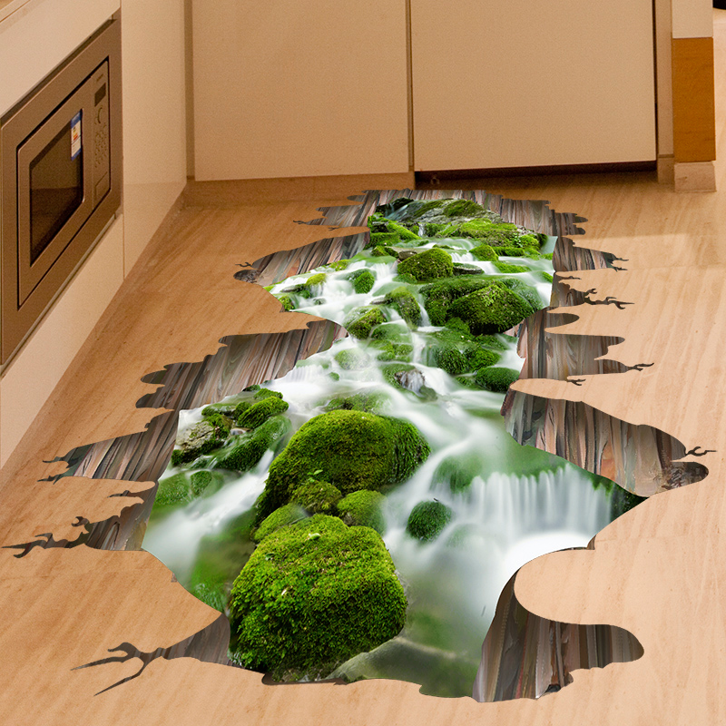 SHIJUEHEZI] Starke Verpackung für 3D Creek Boden Aufkleber Grün ...