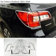 Детектор автомобиль ABS хром крышка TRIM Tail Задний свет лампы рамка части 4 шт. для Subaru Outback 2015 2016 2017 2018