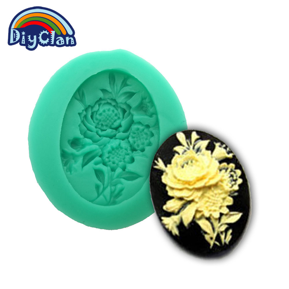 New arrival food grade silica gel mould mini resin flower shape polymer clay sugar candy fondant flores cupcake mold F0013HM35